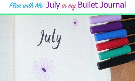 My July Bullet Journal Setup