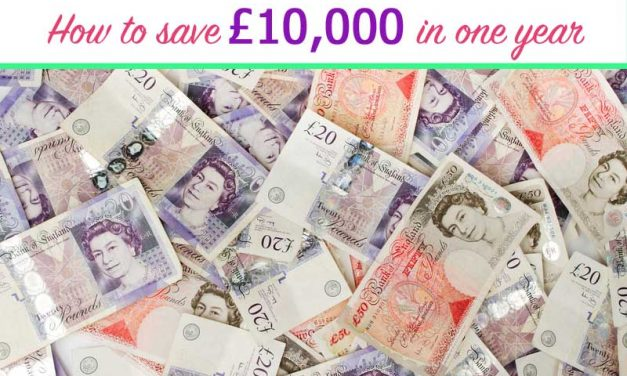 How to save £10,000 in one year