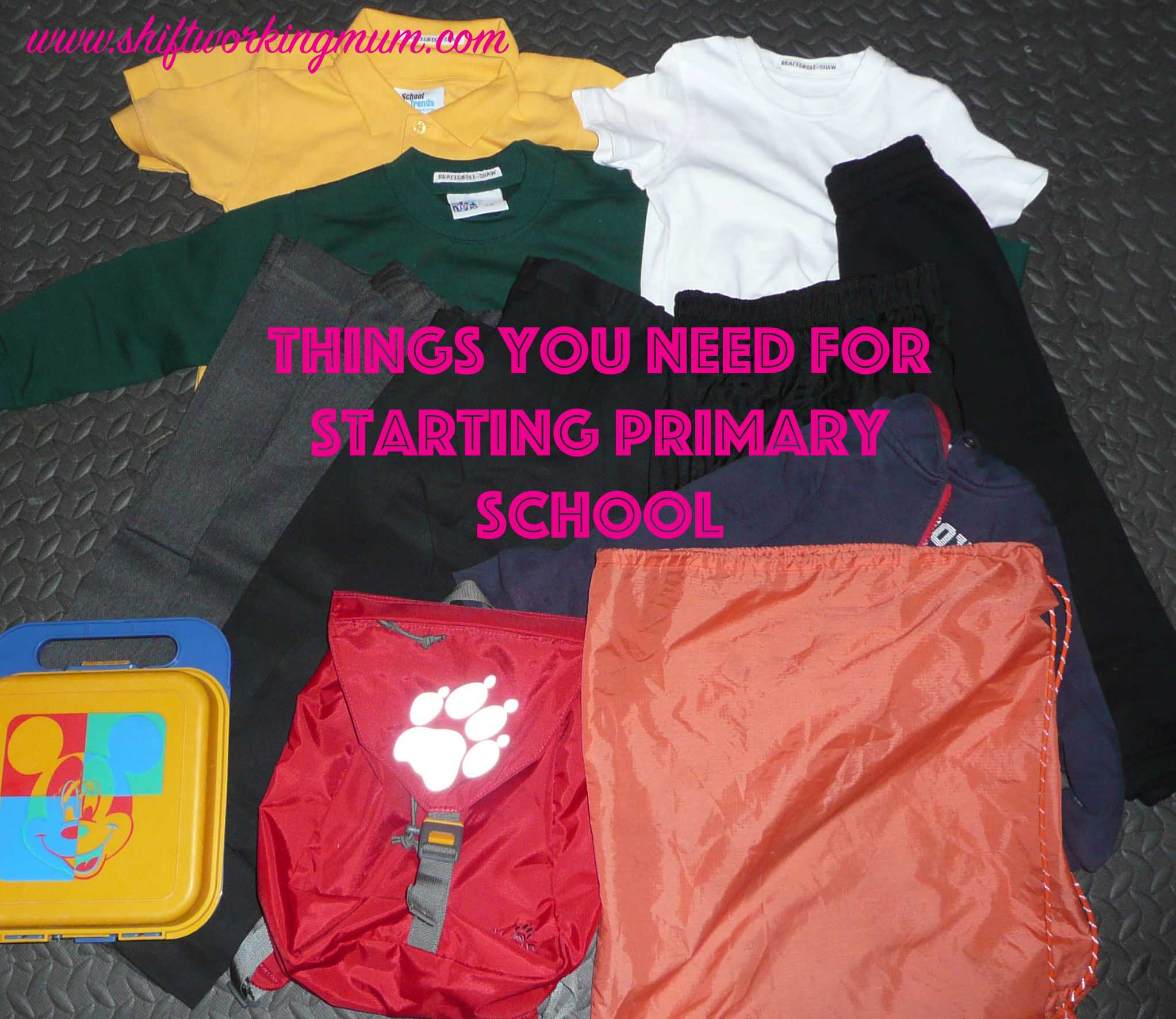 What you need to get ready for starting primary school