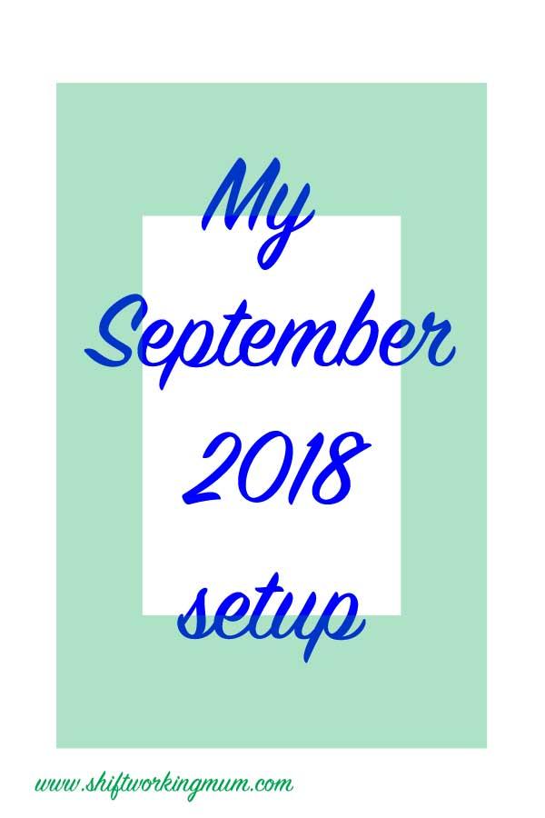September 2018 Bullet Journal setup