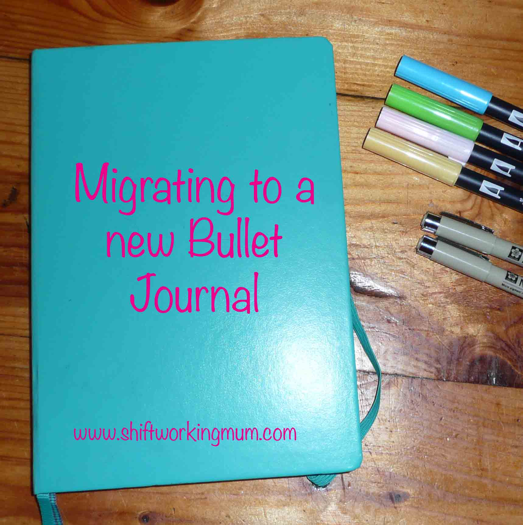 Migrating to a new Bullet Journal