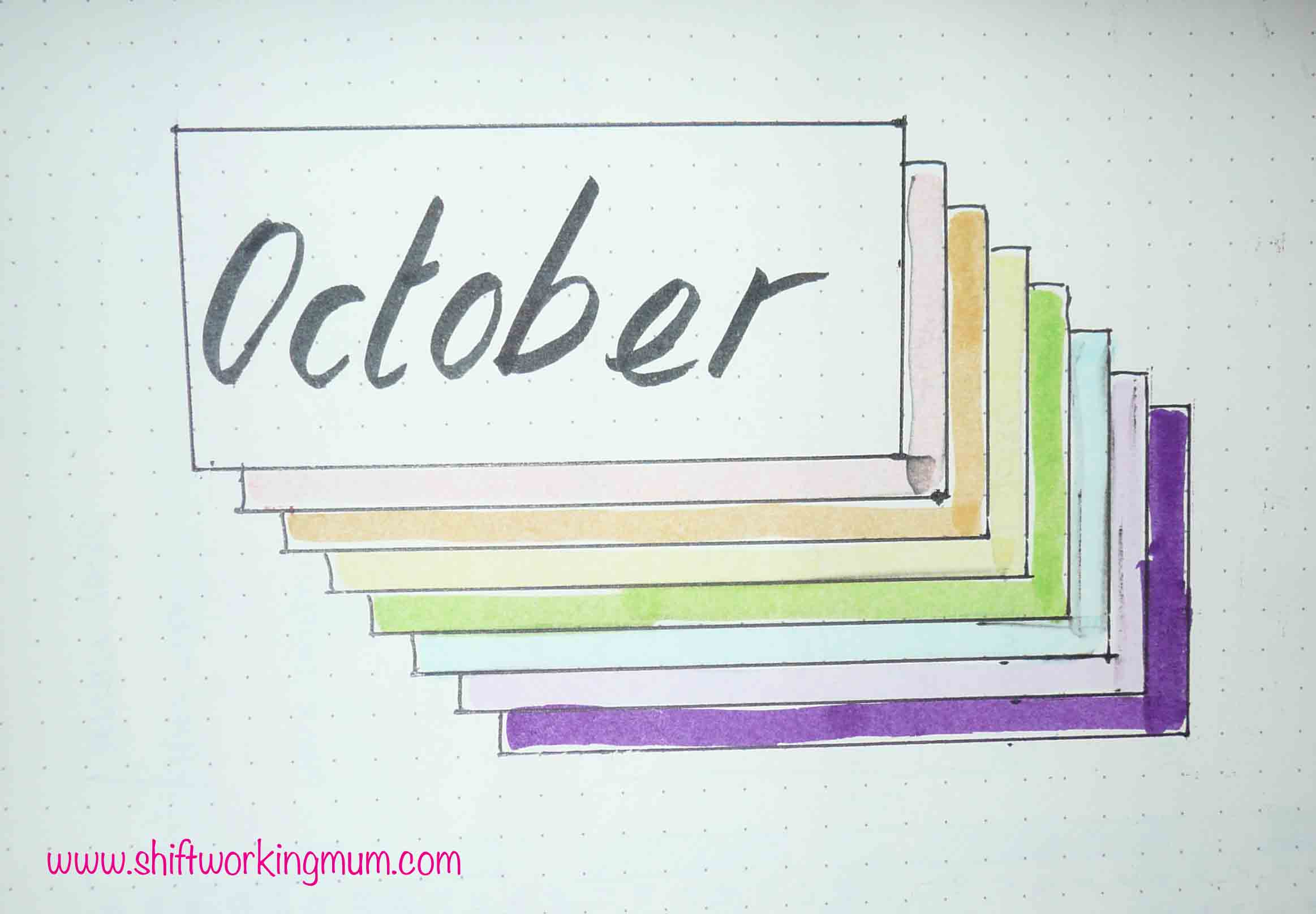 October 2018 Bullet Journal Setup