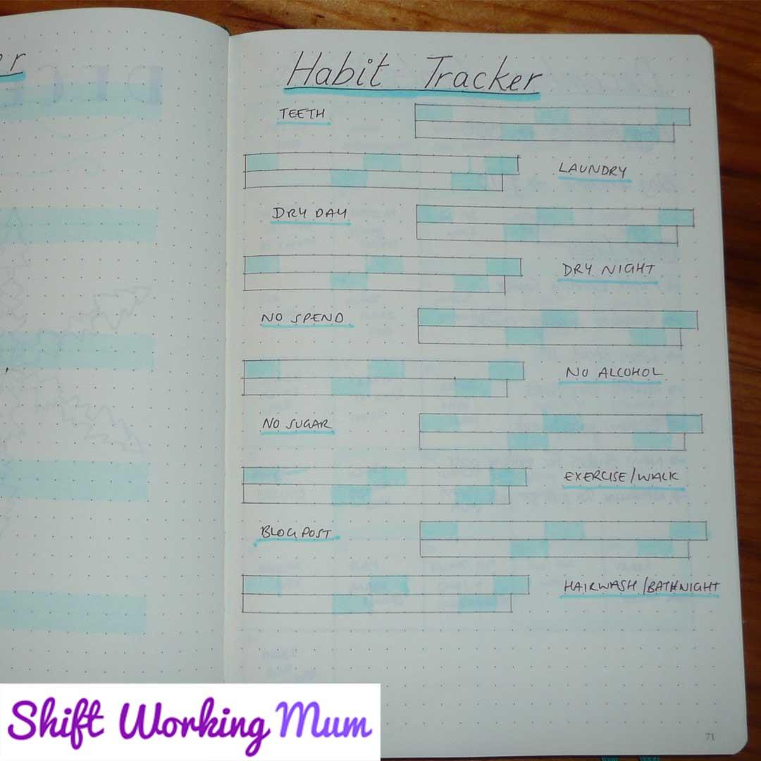 December habit tracker