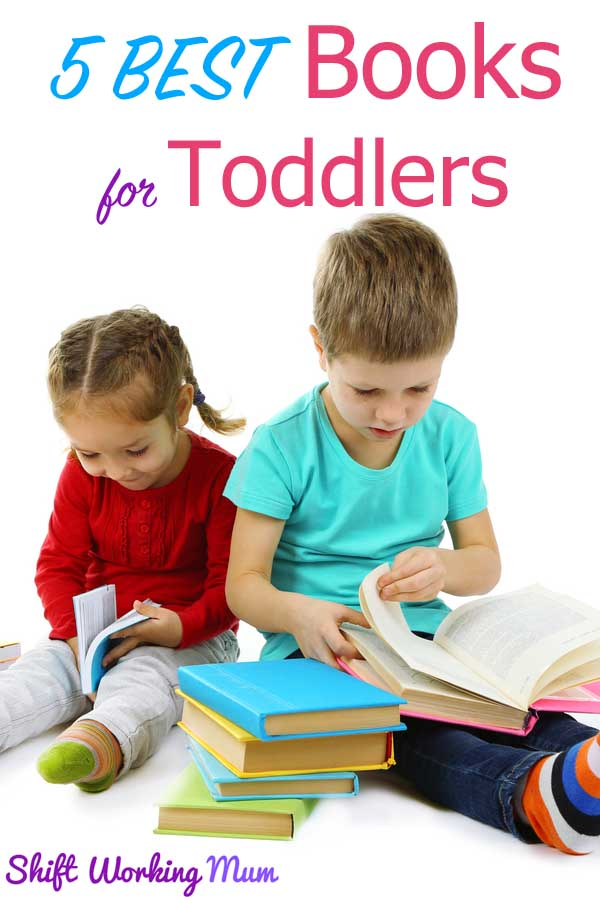 5 best books for toddlers pin image