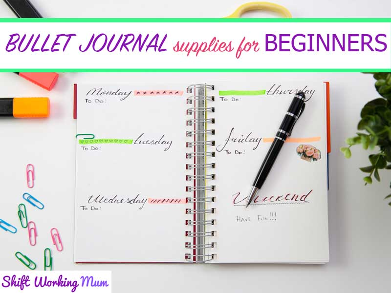 Bullet Journal Supplies for Beginners