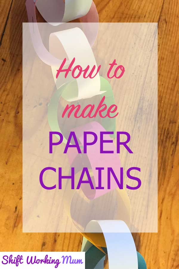 How to make paper chains pin