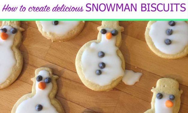 How to make Delicious Snowman Biscuits