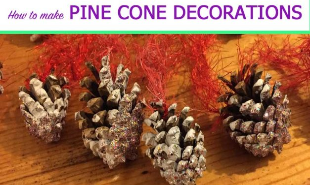 How to make pine cone decorations