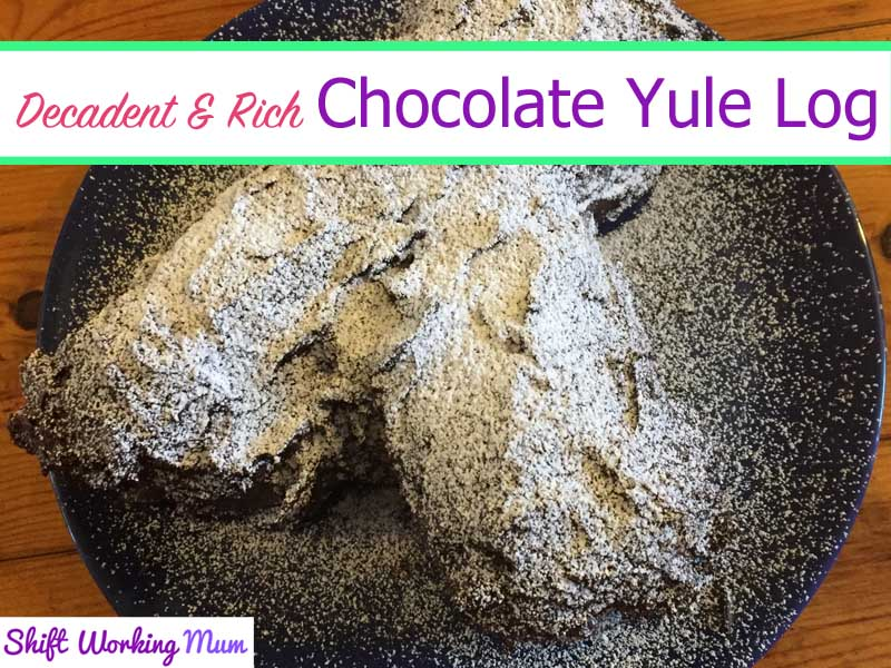Decadent and Rich Chocolate Yule Log
