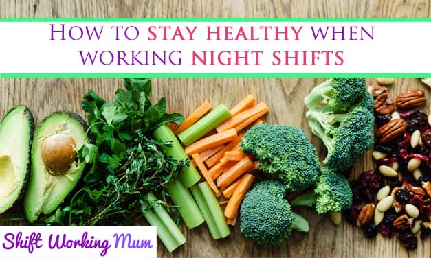 Stay healthy when working night shifts, selection of healthy food on a wooden background